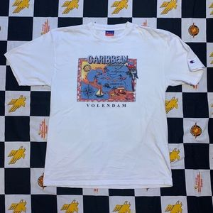 Vintage Champion Caribbean Tee Size Large 90s